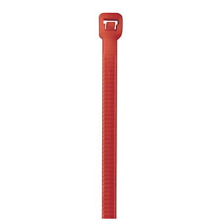 """Office Depot® Brand Cable Ties, 40 Lb, 8"""", Fluorescent Red, Pack Of 1,000"""