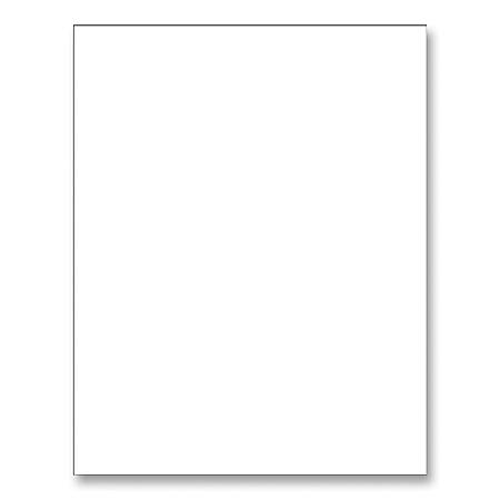 "Pacon® Peacock® Railroad Board, 22"" x 28"", 4-Ply, White, Carton Of 50 Sheets"