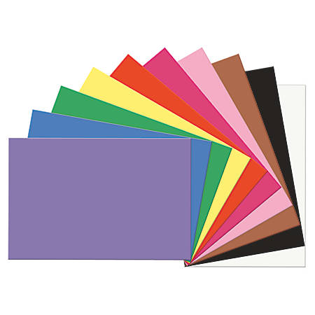 """SunWorks® Construction Paper, 12"""" x 18"""", Assorted, Pack Of 50"""