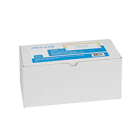 "Avery® Dot Matrix Printer Address Labels, 30721, 4"" x 1 7/16"", White, Pack Of 5,000"