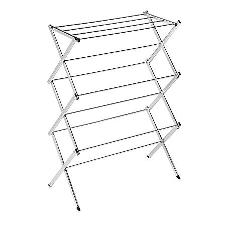 """Honey-Can-Do Commercial Drying Rack, 41 1/4""""H x 14 1/2""""W x 29 1/2""""D, Chrome"""