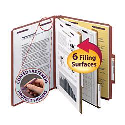 Smead Pressboard Classification Folder 2 Dividers