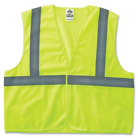 GloWear Class 2 Super Econo Vest - 4XL/5XL - Lime - Polyester Mesh