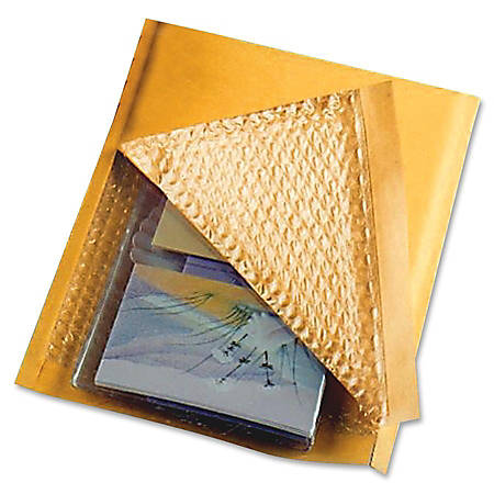 """Sealed Air Jiffylite® Cushioned Mailers, #0, 6"""" x 10"""", 100% Recycled, Satin Gold, Box Of 200"""