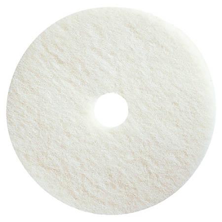 "Impact Products Conventional Floor Polishing Pads - 13"" Diameter - 5/Carton x 13"" Diameter x 1"" Thickness - Fiber - White"