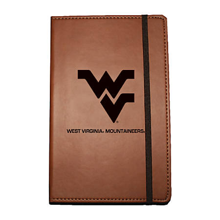 "Markings by C.R. Gibson® Leatherette Journal, 6 1/4"" x 8 1/2"", West Virginia Mountaineers"