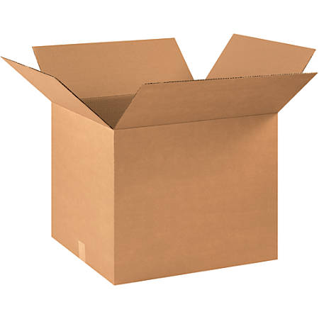 """Office Depot® Brand Corrugated Boxes, 18""""H x 18""""W x 22""""D, 15% Recycled, Kraft, Bundle Of 15"""