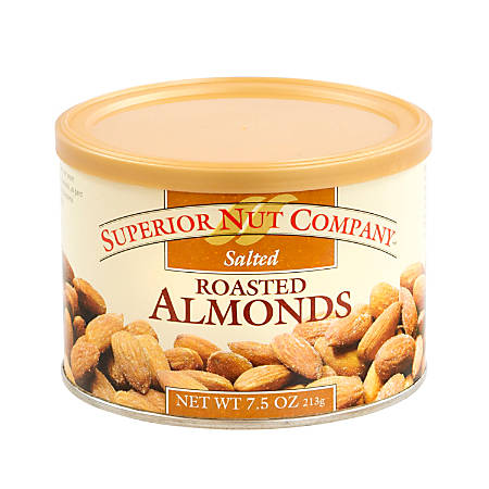 Superior Nut Nuts, Salted Roasted Almonds, 7.5 Oz, Box Of 12