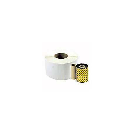 """Wasp Barcode Label - 4"""" Width x 3"""" Length - 500/Roll - 4 Roll - White"""