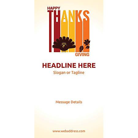 Custom Vertical Banner, Happy Thanksgiving