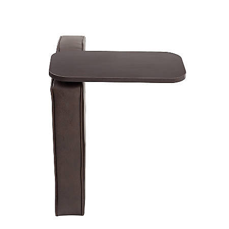 Boss Bomber Tablet Arm For Sectional Sofas, Right Arm, Brown