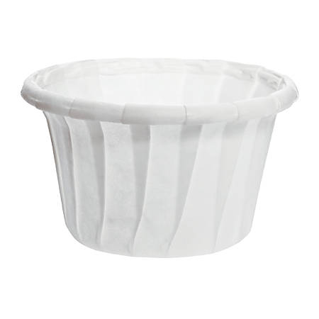 Solo® Treated Paper Souffle Portion Cups, 0.75 Oz, White, 20 Bags of 250 Cups, Case Of 5,000 Cups