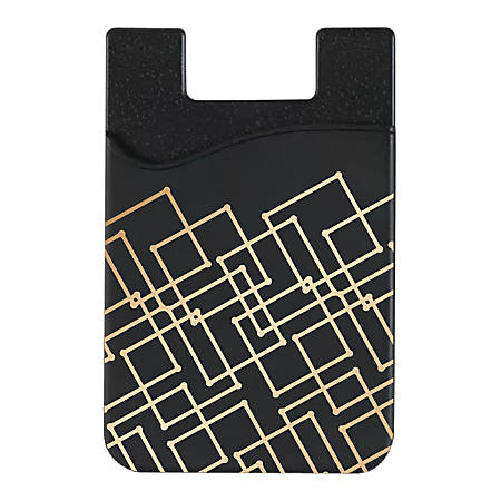 "OTM Essentials Mobile Phone Wallet Sleeve, 3.5""H x 2.3""W x 0.1""D, Geometric Gold, OP-TI-Z120A"