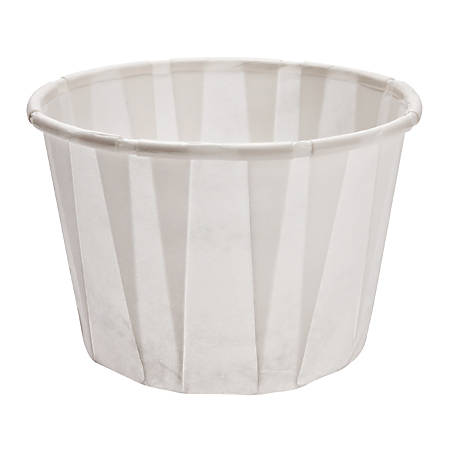 Solo® Treated Paper Souffle Portion Cups, 2 Oz, White, 20 Bags of 250 Cups, Case Of 5,000 Cups