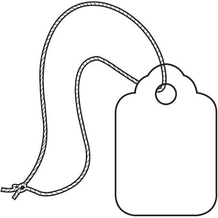 """Office Depot® Brand Merchandise Tags, White String, 100% Recycled, 3/8"""" x 13/16"""", White, Case Of 1,000"""