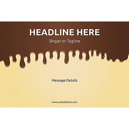Adhesive Sign, Chocolate Wafer, Horizontal