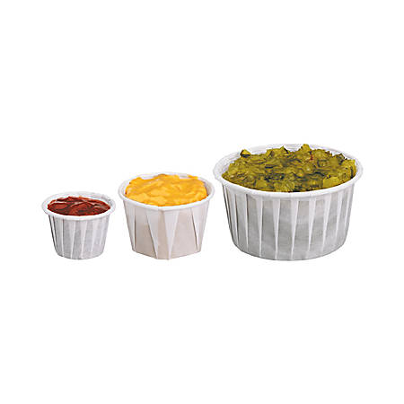 Solo® Treated Paper Souffle Portion Cups, 4 Oz, White, 20 Bags of 250 Cups, Case Of 5,000 Cups