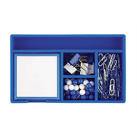 """Office Depot® Brand Desk Set, 7"""" x 4"""", Blue"""