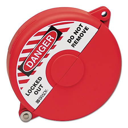 Gate Valve Lockouts, 5 in - 6 1/2 in Handle Size, Red