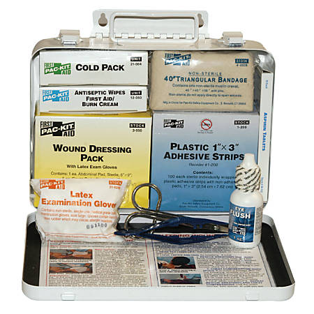 25 Person Vehicle First Aid Kits, Weatherproof Steel, Wall Mount