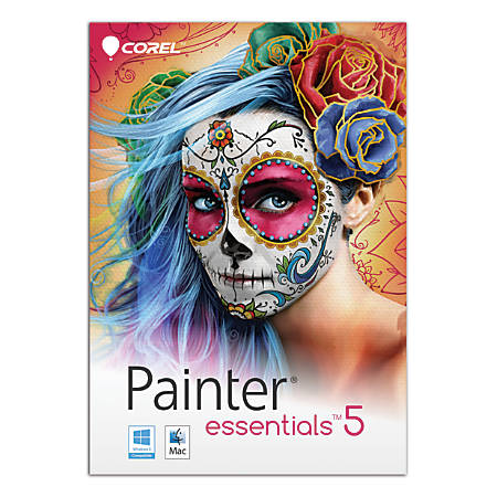 Corel® Painter® Essentials™ 5, For PC And Apple® Mac®, Traditional Disc