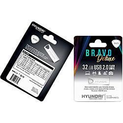 Hyundai Bravo Deluxe SILVER Keychain USB