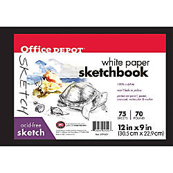 Office Depot Brand Sketchbook Hardcover 9