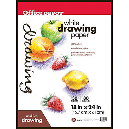"Office Depot® Brand Art Drawing Pad, 18"" x 24"", 24 Sheets"