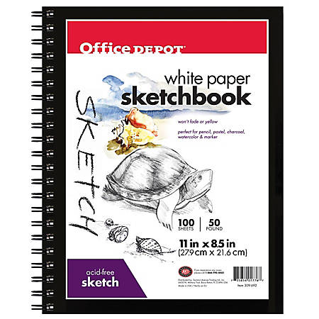 "Office Depot® Brand Sketchbook, 8 1/2"" x 11"", 100 Sheets"