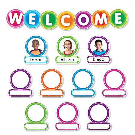 Color Your Classroom Welcome Bulletin Board Set, Assorted Colors