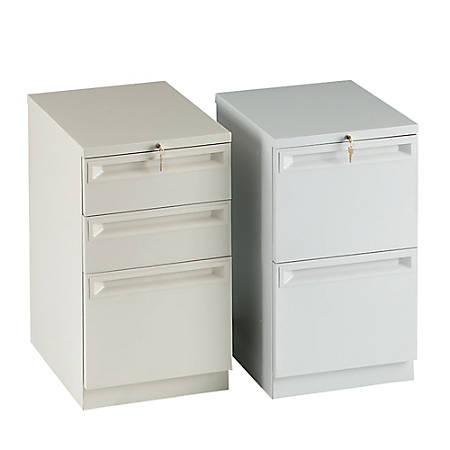 "HON® Efficiencies™ 3-Drawer Mobile Pedestal, 28""H x 15""W x 22 7/8""D, Black"
