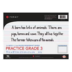 FORAY Newsprint Writing Tablet Grade 3