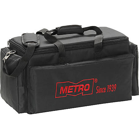 "MetroVac Carry All MVC-420G Carrying Case Vacuum Cleaner - Black - Foam Interior - Shoulder Strap - 12"" Height x 20.5"" Width x 10"" Depth"