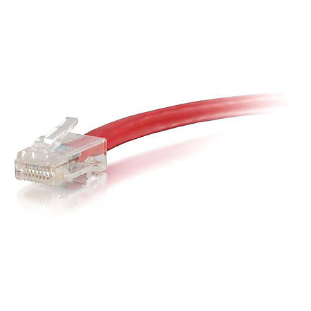 C2G-150ft Cat5e Non-Booted Unshielded (UTP) Network Patch Cable - Red