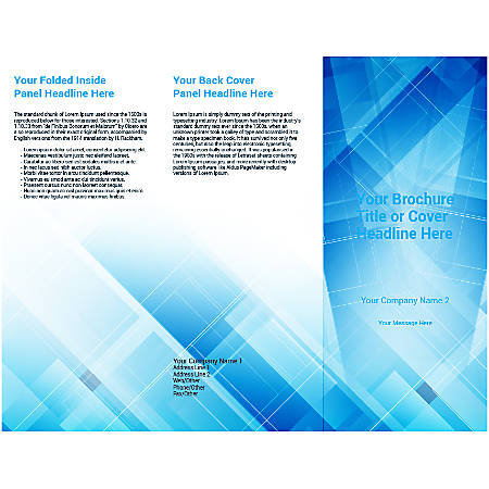 Customizable Trifold Brochure, Blue Shades Background
