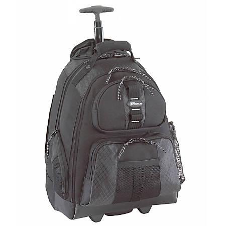 "Targus® Rolling Backpack, 19 1/2""H x 15""W x 9""D, Black"