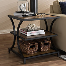 Baxton Studio Jeremy End Table BrownBlack