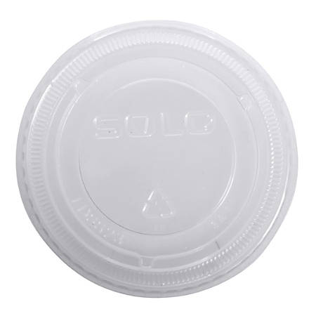 Solo® Polypropylene Plastic Lids, Clear, Pack Of 2,500 Lids