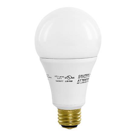 Euri A21 4000cec Series LED Light Bulbs, Dimmable, 1600 Lumens, 17 Watt, 3000K/Warm White, Pack Of 2 Bulbs