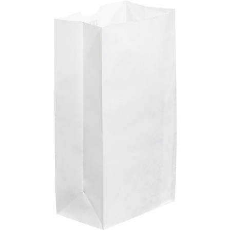 "Partners Brand Grocery Bags, 12 3/8""H x 6 1/8""W x 4""D, White, Case Of 500"