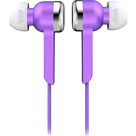 IQ Sound Digital Stereo Earphones - Stereo - Purple - Wired - Earbud - Binaural - In-ear - 4 ft Cable