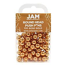 JAM Paper Colorful Push Pins 12
