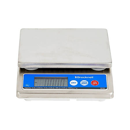 """Brecknell® 6030 IP67 Portion Control Digital Scale, 1""""H x 5 15/16""""W x 6 5/8""""D, Gray"""