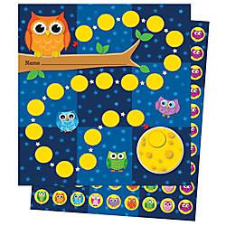 Carson Dellosa Mini Incentive Charts Owls