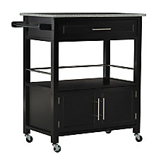 Linon Glen Granite Top Kitchen Cart