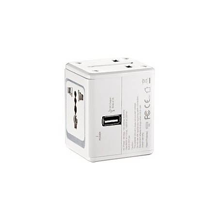 Conair LectronicSmart By Conair All-in-One Adapter With Built-in USB Port - 5 V DC Output