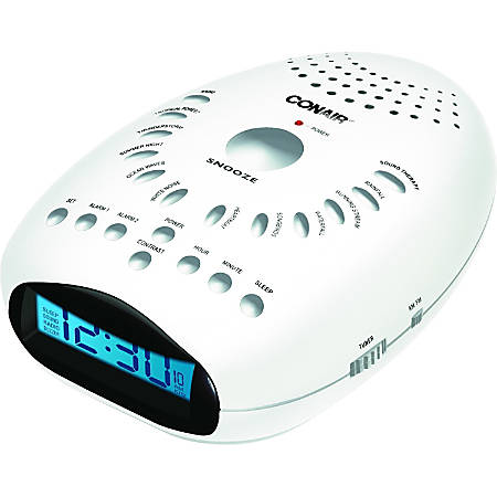 Conair SU7 Desktop Clock Radio - 2 x Alarm - AM, FM