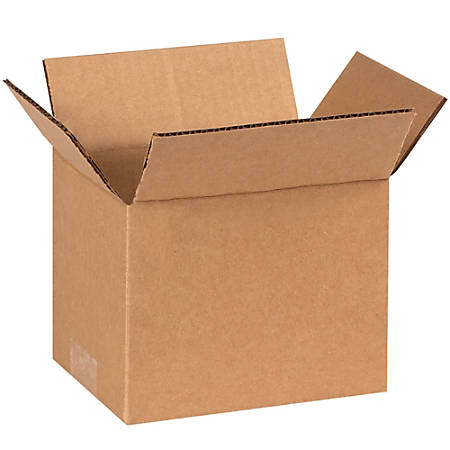 "Office Depot® Brand Corrugated Cartons, 7"" x 5"" x 5"", Kraft, Pack Of 25"