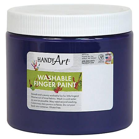 Handy Art Washable Finger Paint - 16 fl oz - 1 Each - Violet