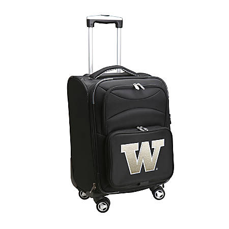 "Denco Sports Luggage Expandable Upright Rolling Carry-On Case, 21"" x 13 1/4"" x 12"", Black, Washington Huskies"